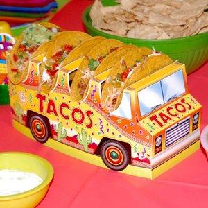 Tafeldecoratie Taco bus