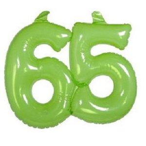 Opblaasbaar cijfer 65 groen