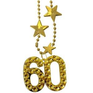 Ketting 60 jaar goudkleurig