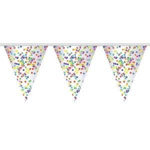 Vlaggenlijn slinger confetti