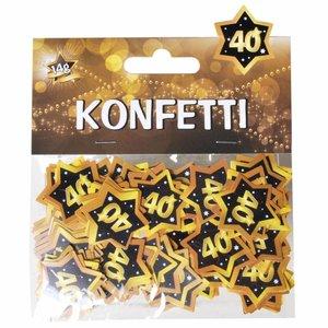 Confetti 40 jaar goud zwart
