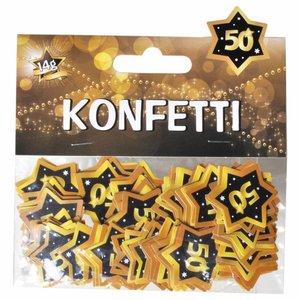 Confetti 50 jaar goud zwart
