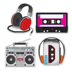 Decoratie cassette players