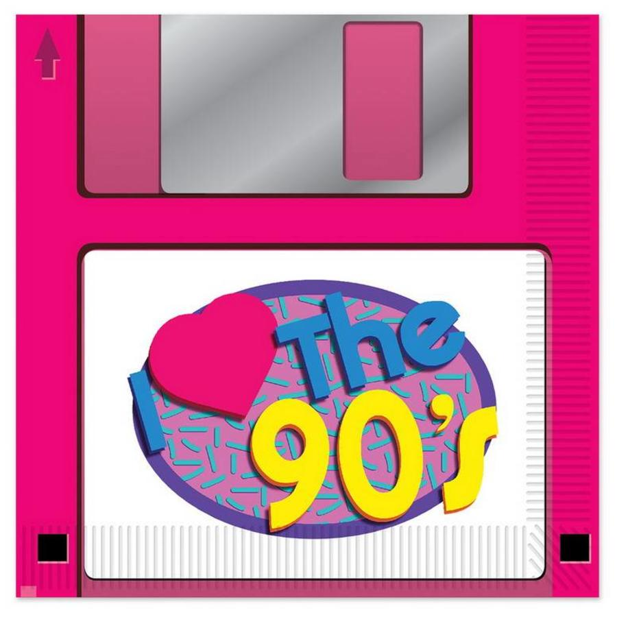 Servetten Floppy disk jaren 90