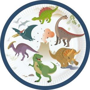 Bordjes Happy Dinosaurus klein 8 stuks