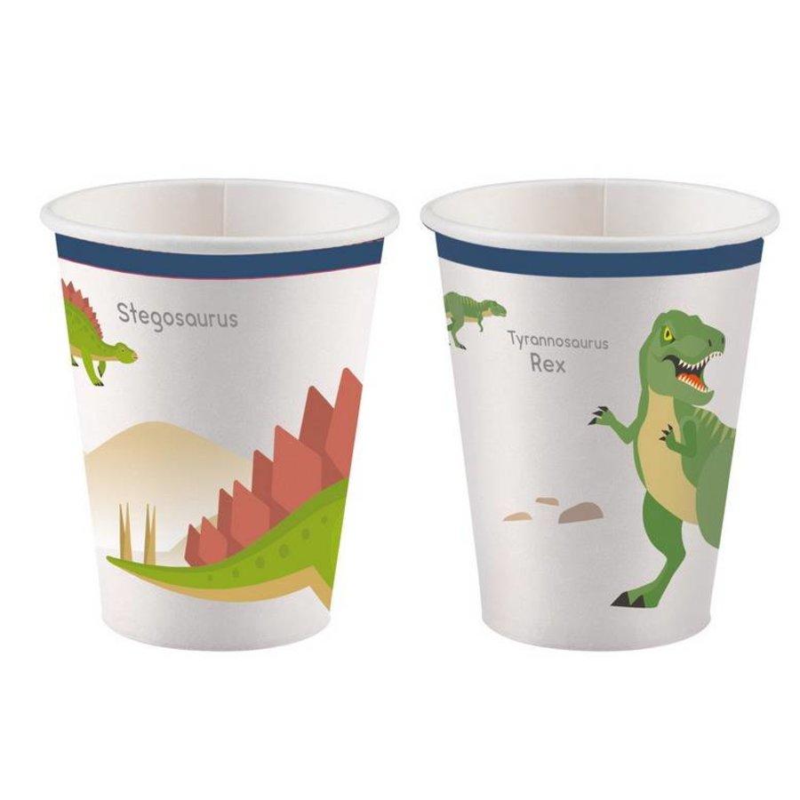 Bekertjes Happy Dinosaurus 8 stuks