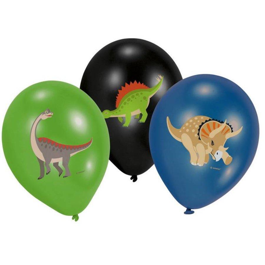Ballonnen Happy Dinosaurus fullcolor 6 stuks