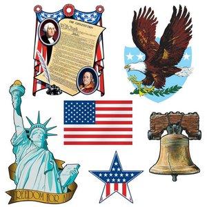 Amerikaanse decoraties 6 stuks
