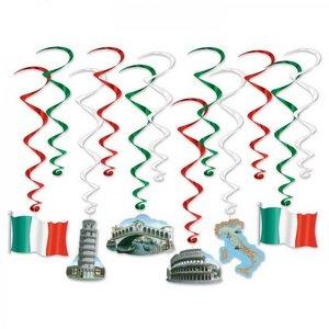Decoraties Italië Whirls 12 stuks