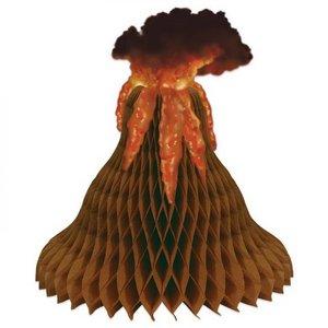 Tafeldecoratie vulkaan uitbarsting