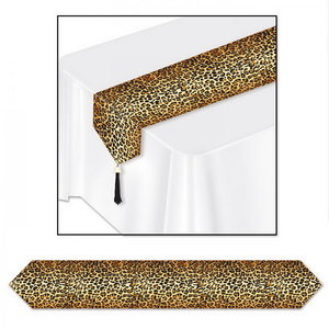 Tafelloper met luipaard print