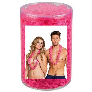 Hawaii krans 25 stuks roze