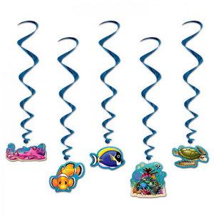 Hangdecoraties zeedieren 5 stuks