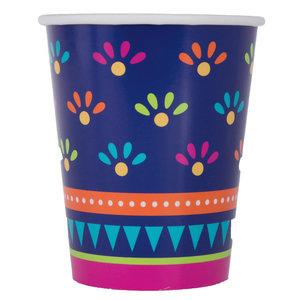 Bekertjes Fiesta gekleurd 8 stuks