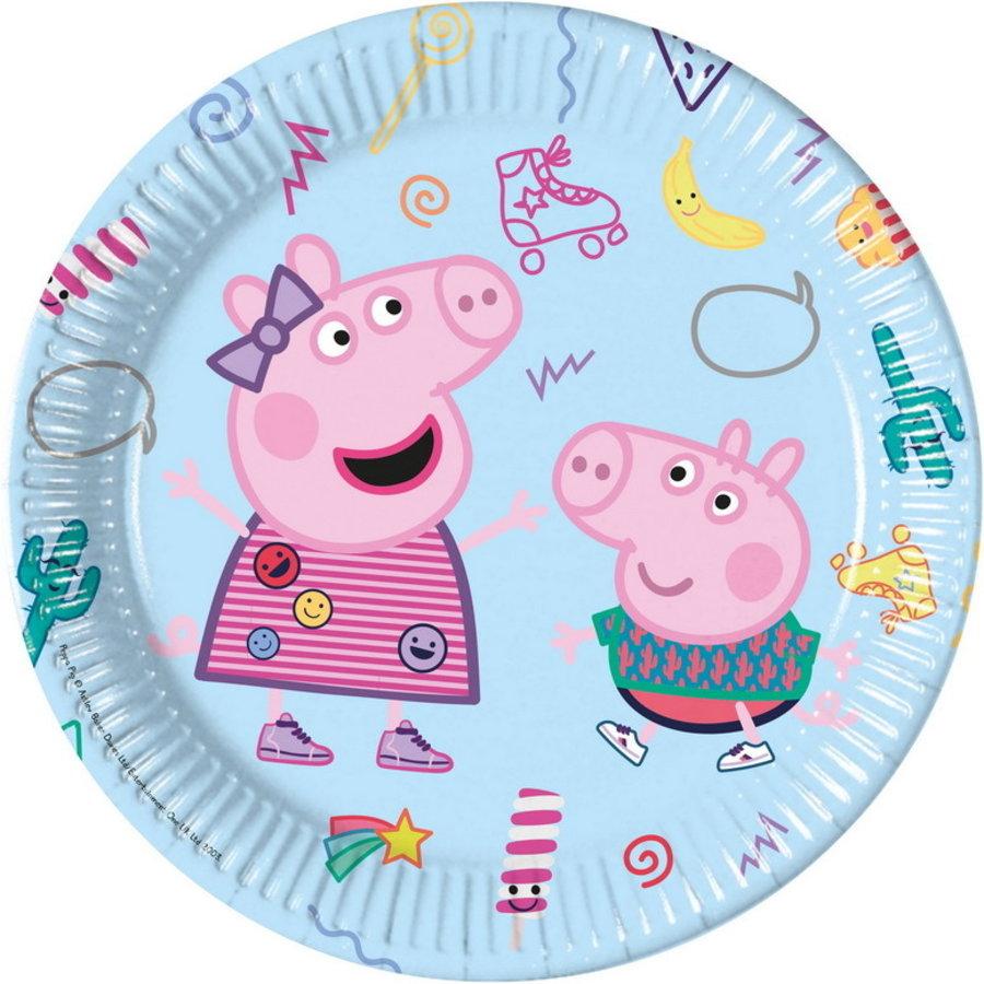 Bordjes Peppa Pig en George lichtblauw