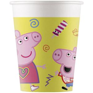 Bekertjes Peppa Pig en George geel