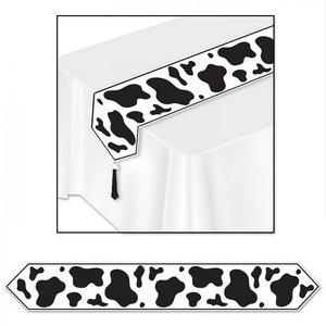 Tafelloper met koeienprint
