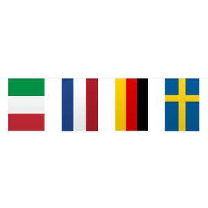 Vlaggenlijn landen rechthoekig