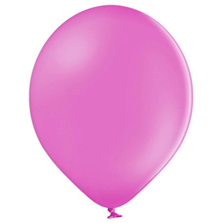 Ballonnen pastel fuchsia 10 stuks