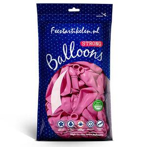 Ballonnen pastel fuchsia 100 stuks