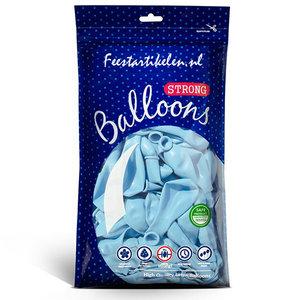 Ballonnen pastel lichtblauw 100 stuks