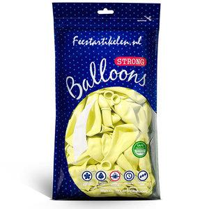 Ballonnen pastel lichtgeel 100 stuks