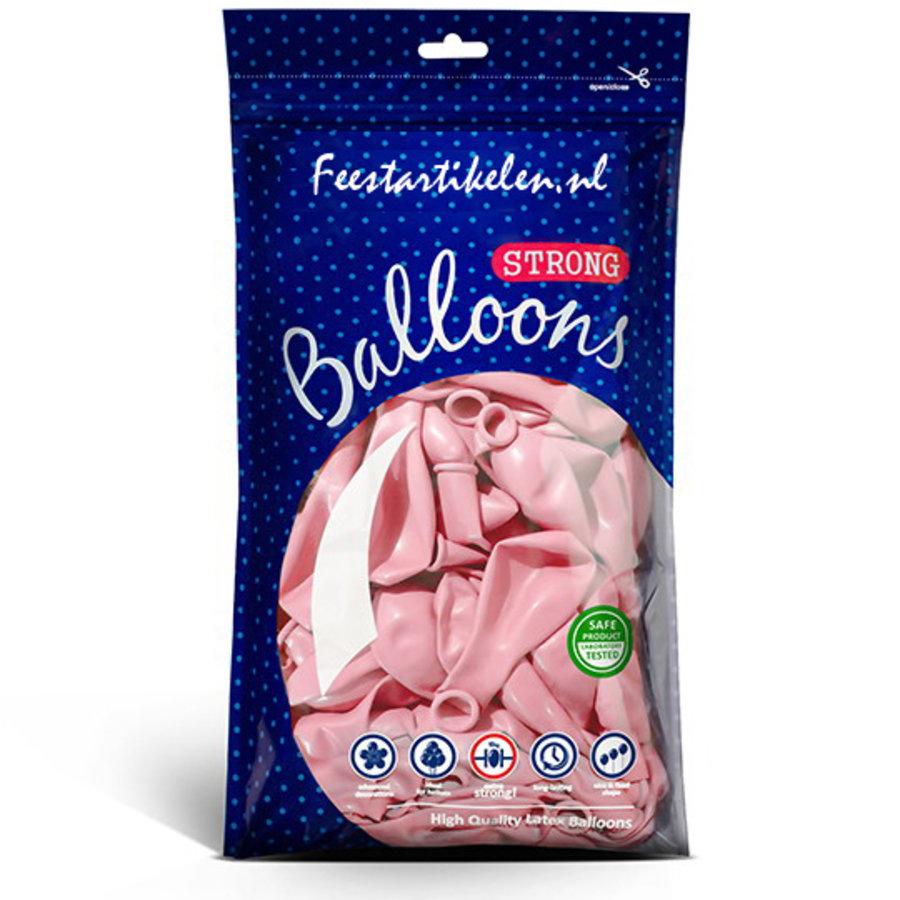 Ballonnen pastel pink 100 stuks