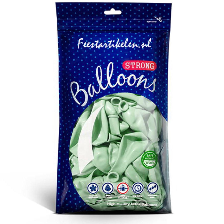 Ballonnen pastel pistache 100 stuks