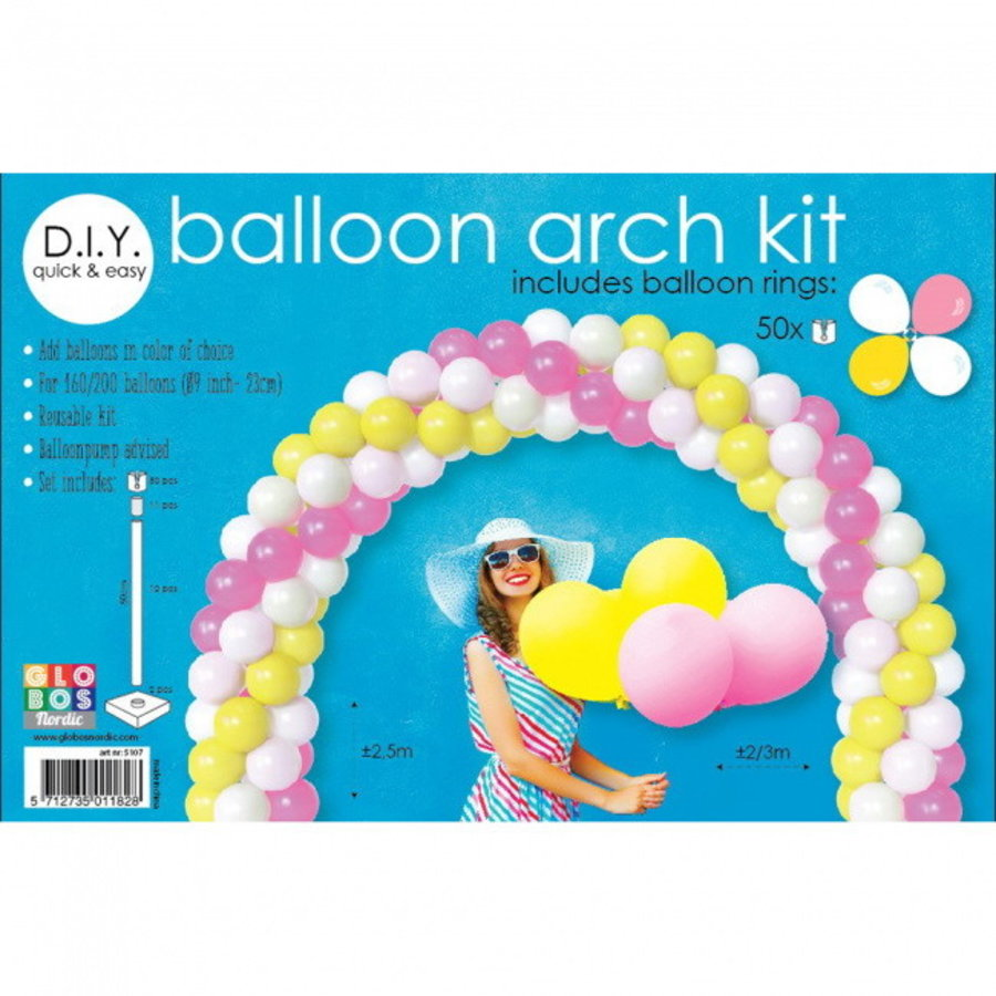 Set voor een ballonnenboog 75 delig
