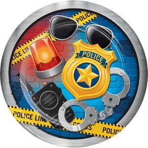 Bordjes politie accessoires 8 stuks