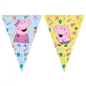 Vlaggenlijn Peppa Pig en George blauw geel