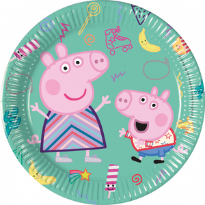 Gebakbordjes Peppa Pig en George groen
