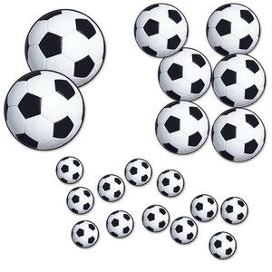 Decoraties voetballen 20 stuks