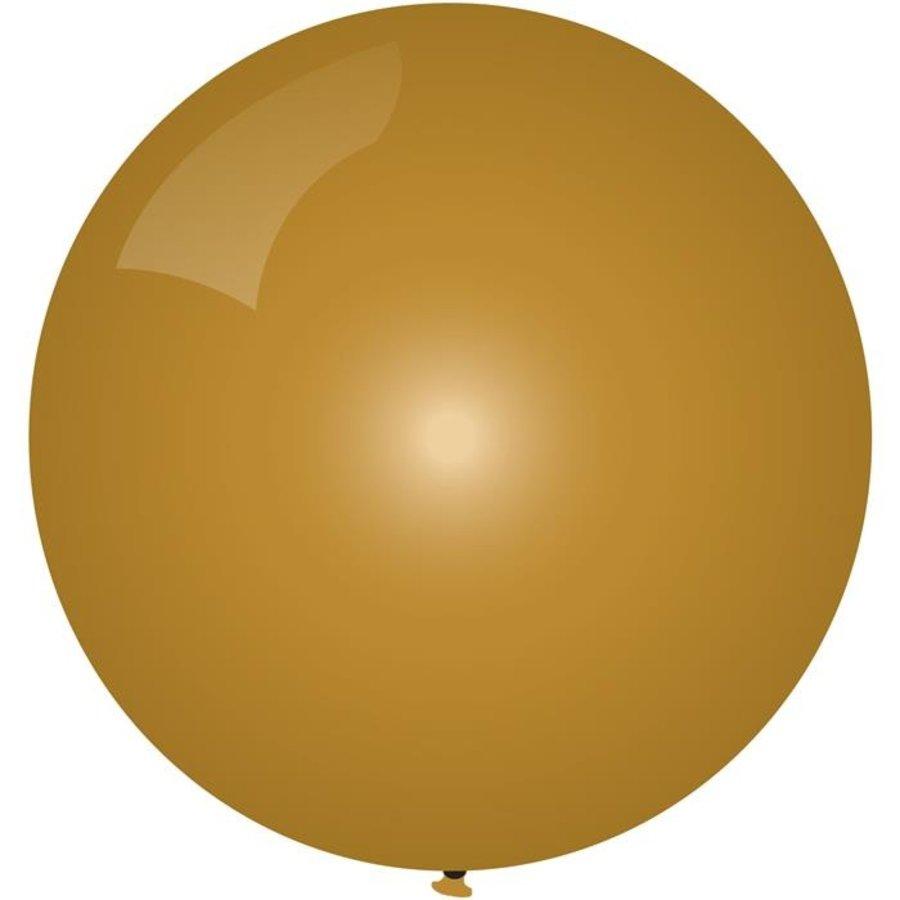 Ballon jumbo goudkleurig 90cm