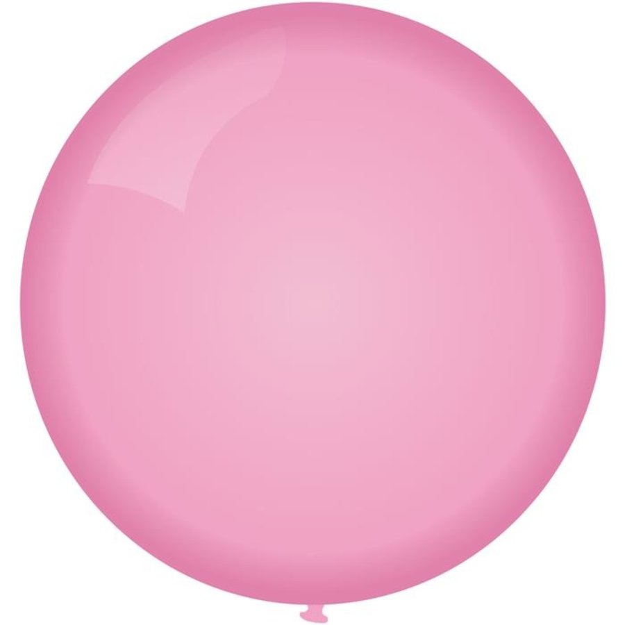 Ballon jumbo lichtroze 90cm