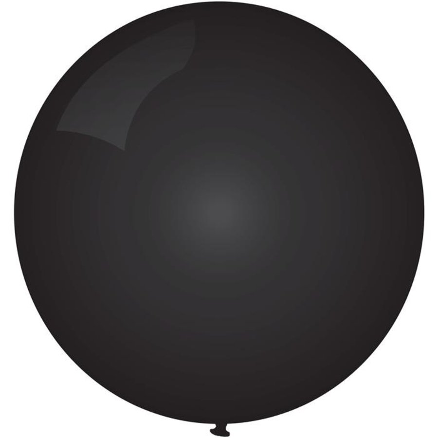 Ballon jumbo zwart 90cm