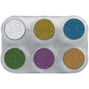 Grimas schmink 6 kleuren palet metallic