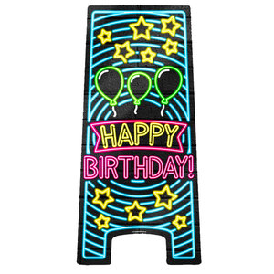 NEON Partybord Happy Birthday