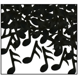 Confetti Muzieknoten zwart