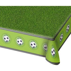 Tafelkleed grasveld met voetballen