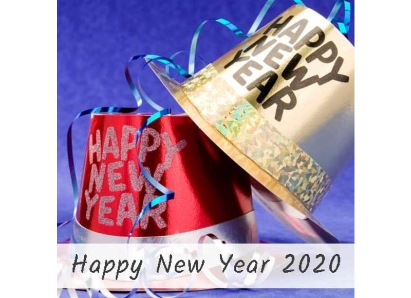Happy new year nieuwjaarsversiering