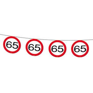Vlaggenlijn 65 jaar verkeersbord