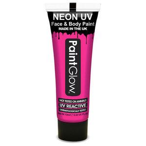Neon UV paint glow pink