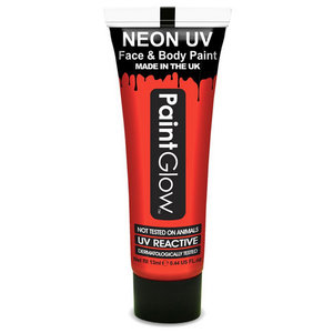 Neon UV paint glow rood