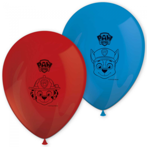 Ballonnen Paw Patrol rood blauw