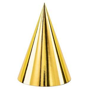 Hoedjes metallic goudkleurig 6 stuks