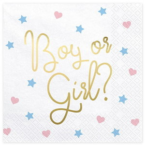 Servetten Boy or Girl 20 stuks