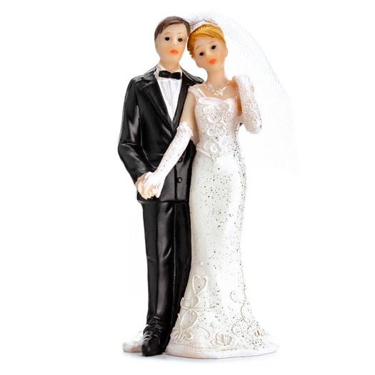 bruidspaar voor op de taart bruiloft versiering