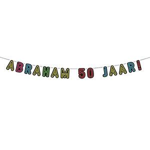 NEON slinger Abraham 50 jaar