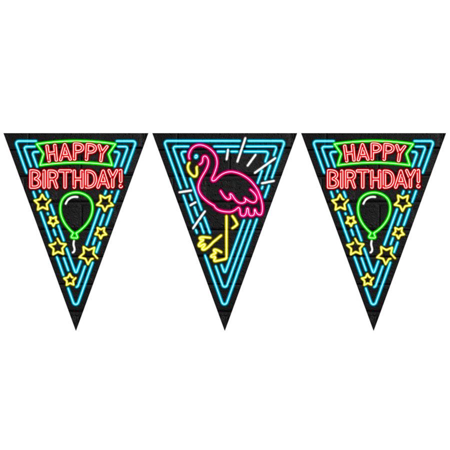 Vlaggenlijn NEON Happy Birthday